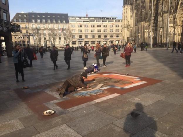 Straßenmalerei in Köln